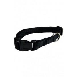 Collar ajustable nylon 10mmx20-30cm, negro