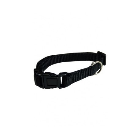 Collar ajustable nylon 10mmx20-30cm, negro