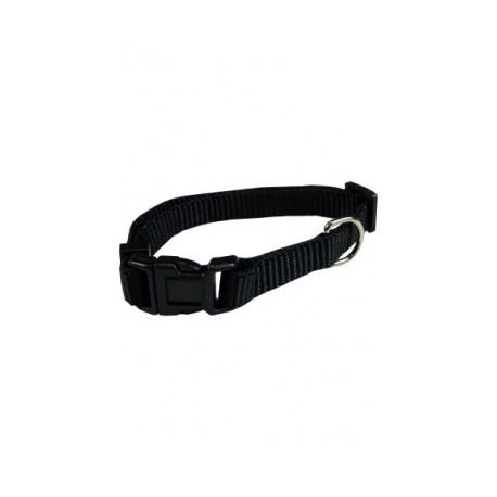Collar ajustable nylon 25mmx48-70cm, negro