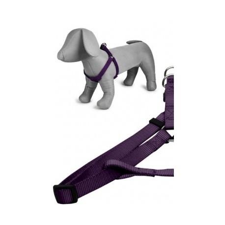 Arnés nylon 20mmx46-75cm, violeta