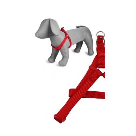 Arnés nylon 20mmx46-75cm, rojo