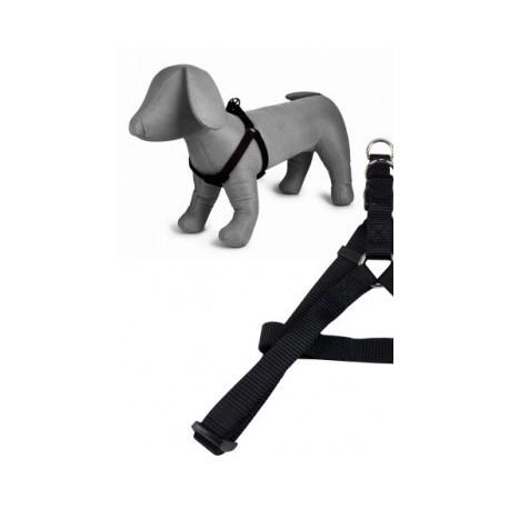 Arnés nylon 25mmx60-100 cm, negro