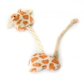 Natural juguete de gato Jirafa de cuerda