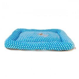 Colchón Acolchado Suave Azul