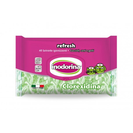Inodorina Toallitas Refresh Clorhexidina 40Ud