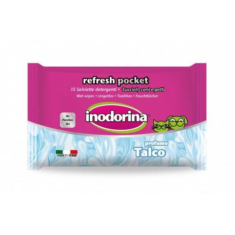Inodorina toallitas refresh talco pocket 15 uds