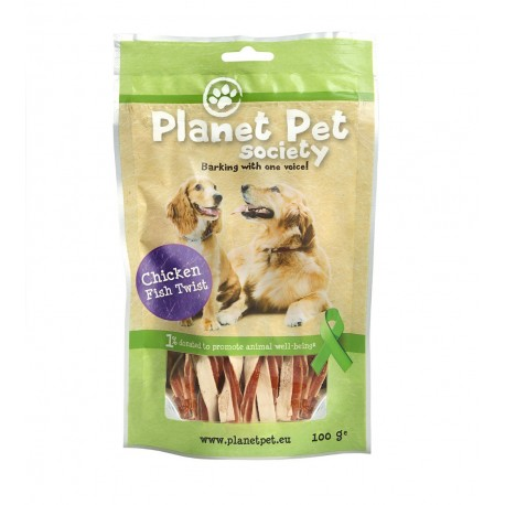 Planet Pet Snack Twist Pollo y Pescado