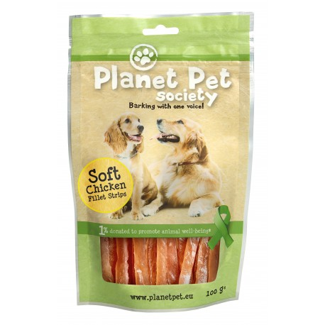 Planet Pet snack tiras filete de pollo 100g