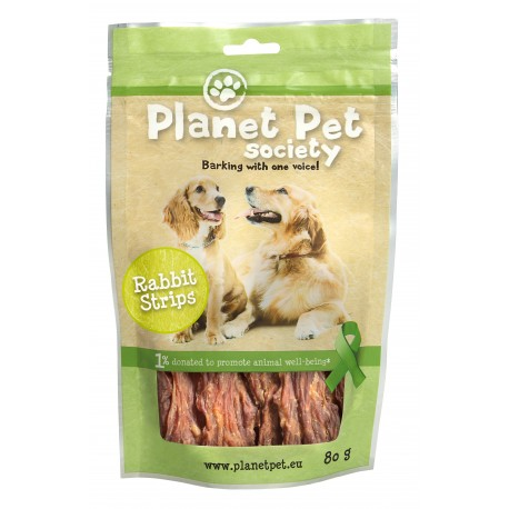 Planet Pet Snack tiras de conejo