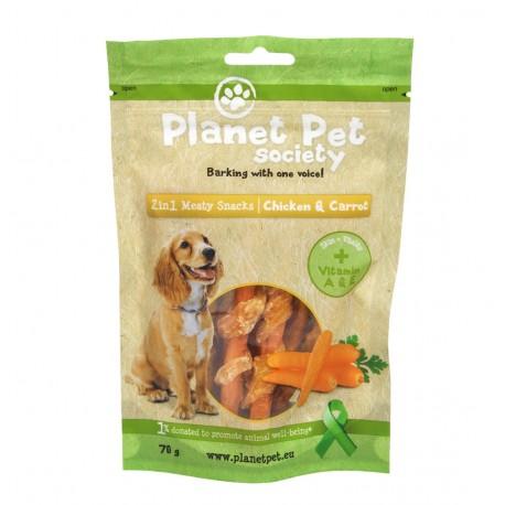 Planet Pet Snack Frutas Pollo y Zanahoria