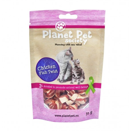 Planet Pet Gato Snack Pollo y Pescado Twist
