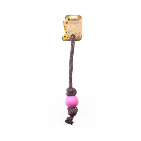 BecoBall con cuerda L(7,5 cm - Cuerda 50 cm) Rosa