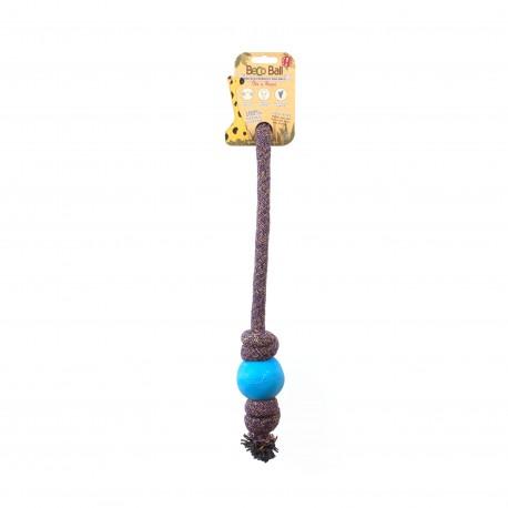 BecoBall con cuerda L(7,5 cm - Cuerda 50 cm) Azul