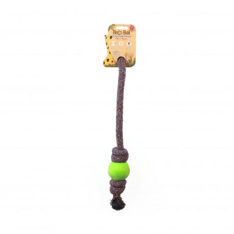 BecoBall con cuerda L(7,5 cm -Cuerda 50 cm) Verde