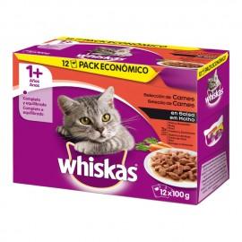 Whiskas Multipack Carne 12x100gr (4 udes.)