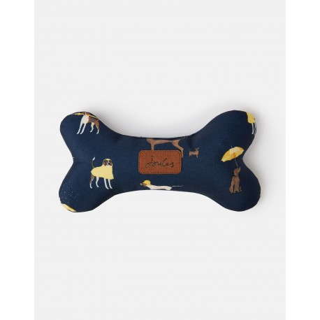 Rosewood Almohada hueso Joules azul dog print