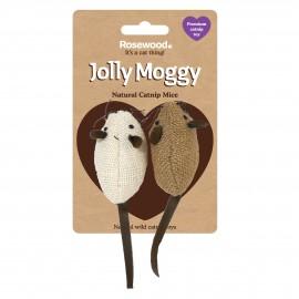 Rosewood Gato Jolly Moggy 2 ratones tela catnip