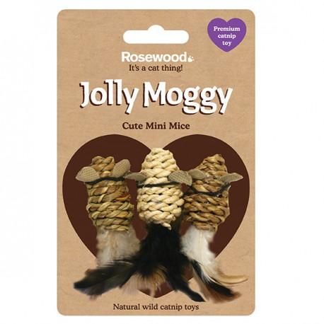 Rosewood Gato Jolly Moggy 3 mini ratones sisal catnip