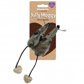 Rosewood Gato Jolly Moggy 2 ratones pelo
