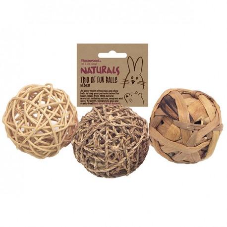 Rosewood Small animal 3 pelotas 8cm fun ball