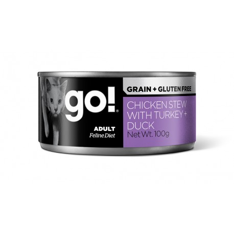 Go! Grain Free Chicken Turkey Duck Cat 6x100g