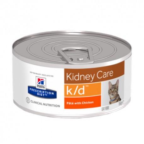 Hills Diet Feline k/d (lata) trocitos (24x156 gr)