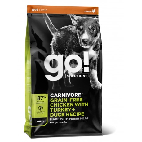 GO! CARNIVORE Grain Free Chicken, Turkey + Duck Puppy Dog