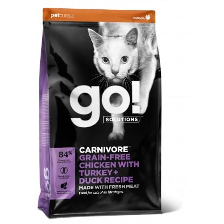 GO! CARNIVORE Grain Free Chicken, Turkey + Duck Cat
