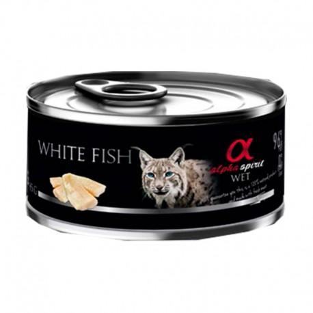 Alpha Lata Gato Pescado Blanco