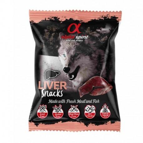 Alpha Spirit Snacks de HÆgado perro (24 bolsasx50g)