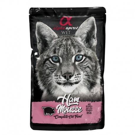 Alpha Spirit gato pouch mousse jamon 24x85grs