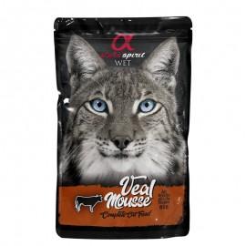 Alpha Spirit gato pouch mousse ternera 24x85grs