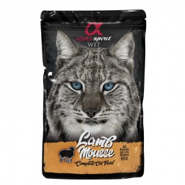Alpha Spirit gato pouch mousse cordero 24x85grs