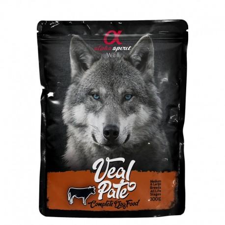 Alpha Spirit perro pouch pate ternera 12x300grs