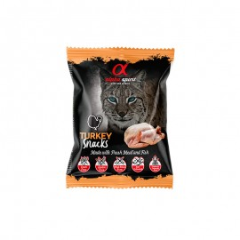 Alpha Spirit Snacks de Pavo gato (24 bolsasx50g)