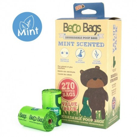 BecoBags Mint 18 rollosx15 bolsas (270 total)