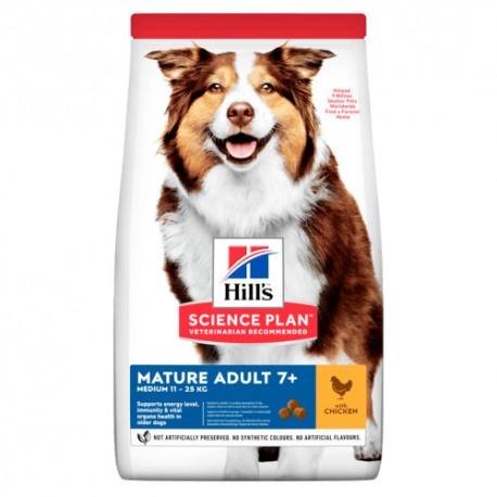 Hills mature Adulto 7+ raza mediana pollo