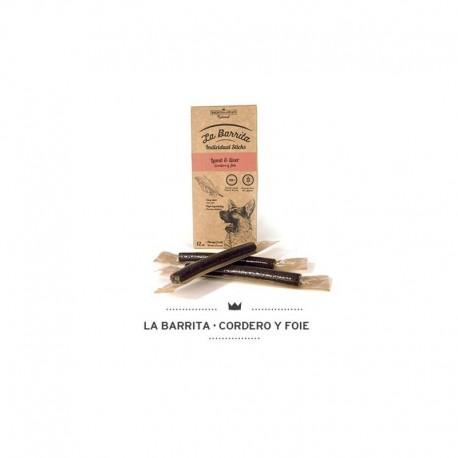 Barrita dog cordero-foie caja 8 bolsas 12 und XX