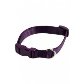 Collar ajustable nylon 15mmx33-40cm, violeta