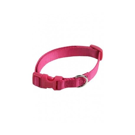 Collar ajustable nylon 15mmx33-40cm, rosa