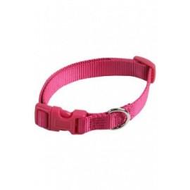 Collar ajustable nylon 25mmx48-70cm, rosa