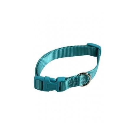 Collar ajustable nylon 15mmx33-40cm, turquesa