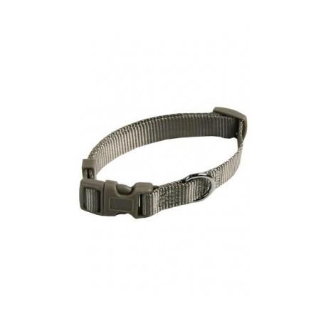 Collar ajustable nylon 15mmx33-40cm, gris