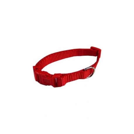 Collar ajustable nylon 10mmx20-30cm, rojo